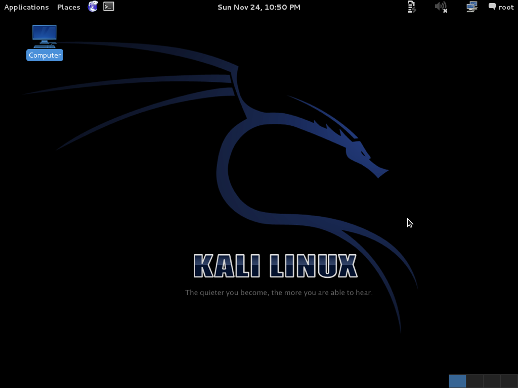 Home Page Kali Linux